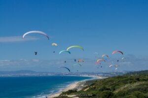 Paragliders at Costa da Caparica